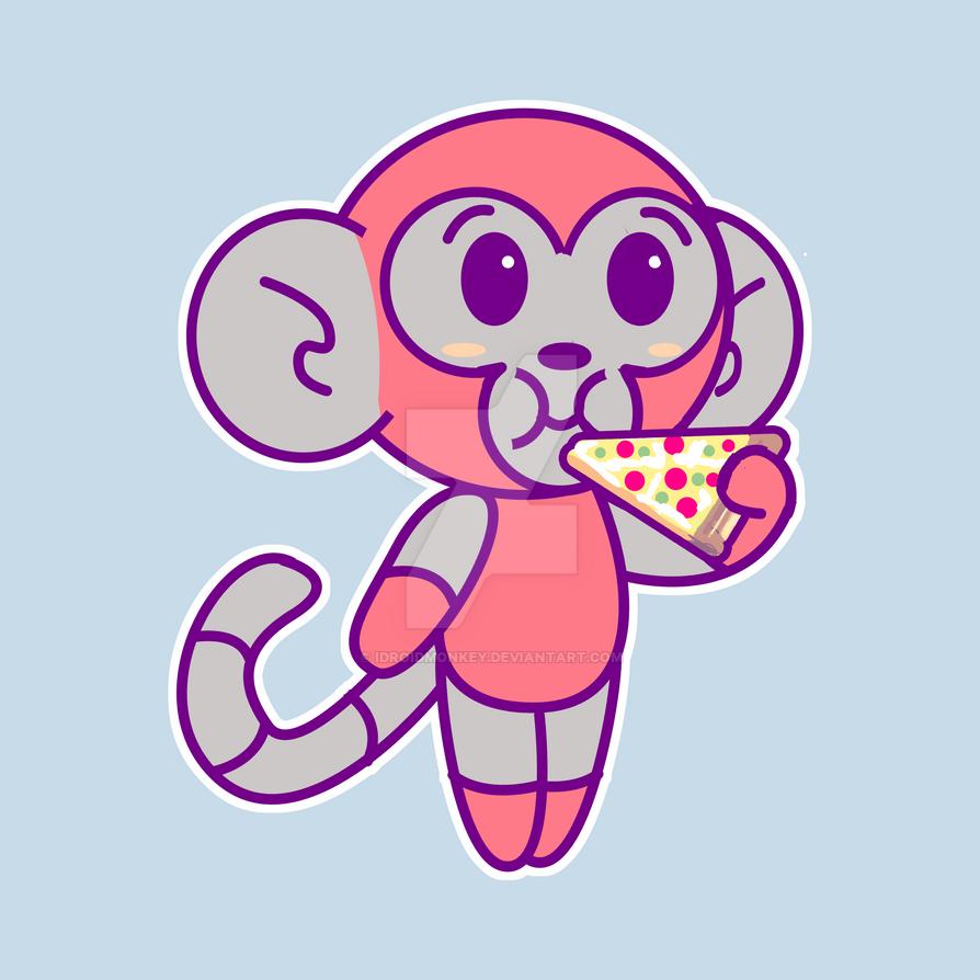 DMO EAT PIZZA shirt design by IDROIDMONKEY