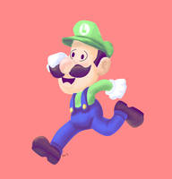 LUIGI TOONED SPEED DRAWING +VIDEO by IDROIDMONKEY