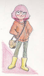 A sketch of a girl by IDROIDMONKEY