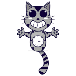 CAT CLOCK DESIGN