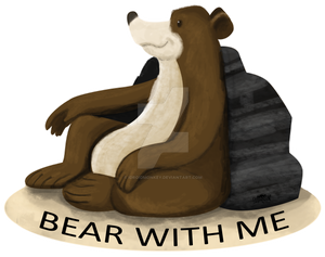 A sticker BEAR WITH ME