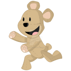 TEDDY BEAR PLUSHIE. NEW STICKER DESIGN