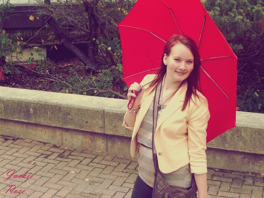 Big Red Umbrella by JackieRosePhotos