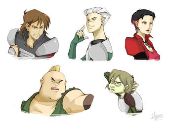 XMen Evo - Brotherhood Busts by Chizuri
