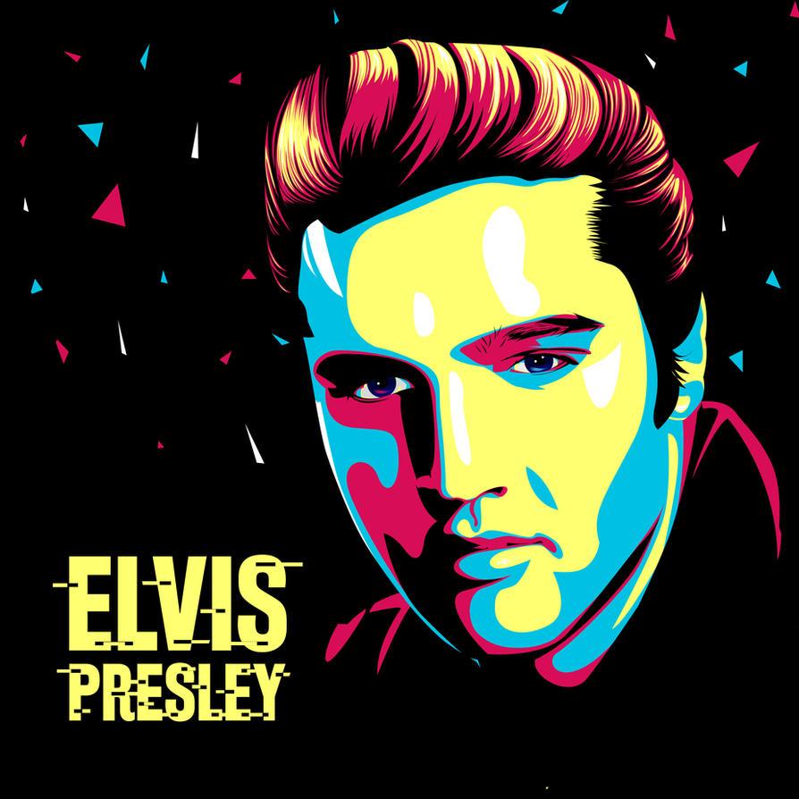 Elvis Presley Pop Art by DennyMok