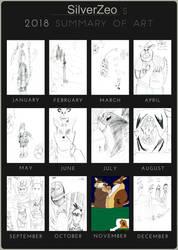 SilverZeo's 2018 Art Summary by SilverZeo