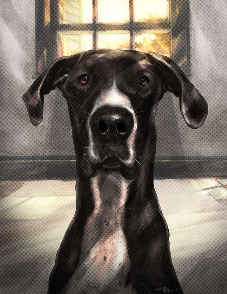 Great Dane Painting by Sc0tticus