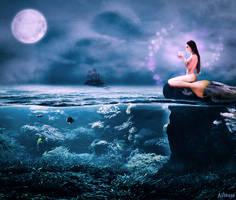 Moonlight mermaid by Alhassra