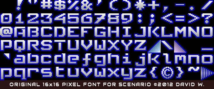 16x16 Pixel Font
