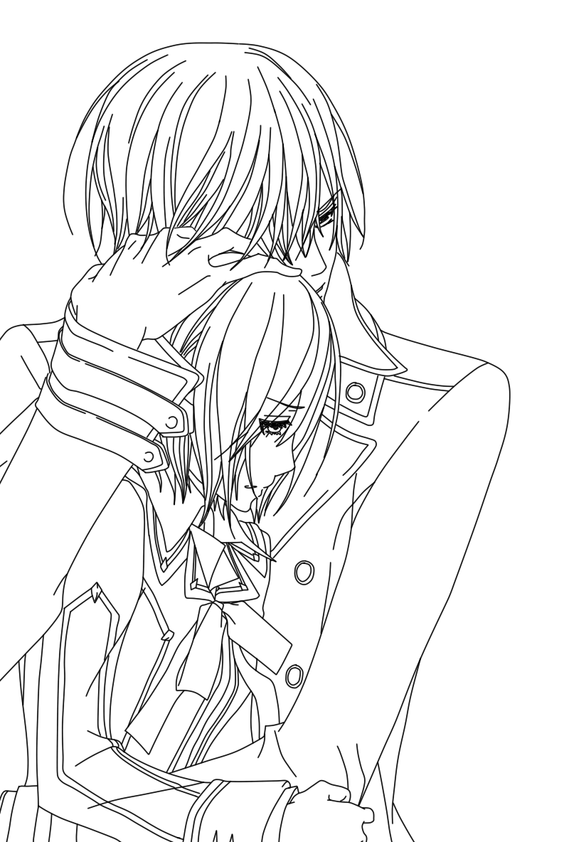 anime vampire knight coloring pages - photo#41