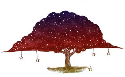 Dusk Galaxy Tree