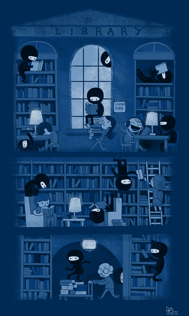 Silence in the Library by missqueenmob