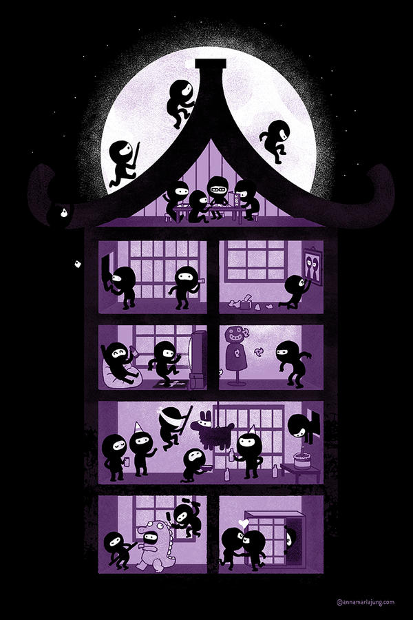 A House Full of Ninjas by missqueenmob