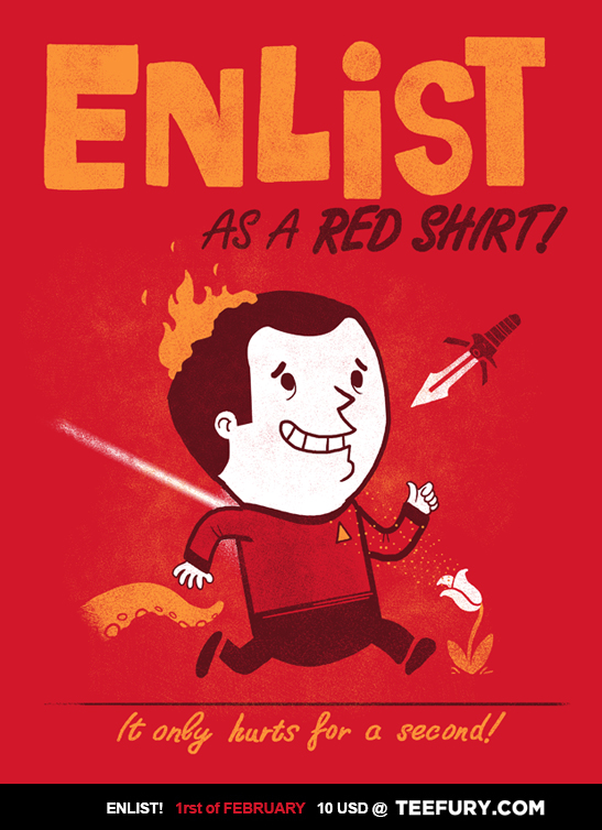 ENLIST as a Red Shirt! by missqueenmob