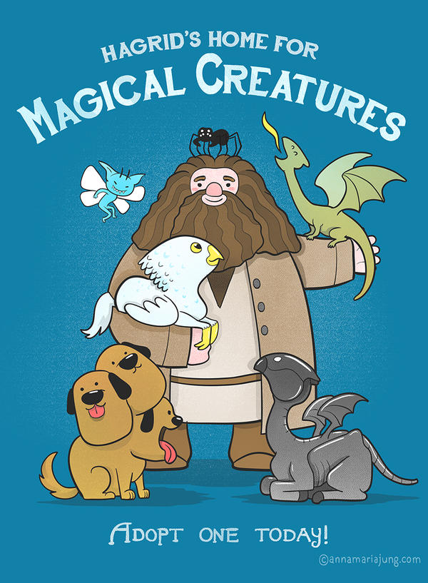 Hagrid's Home for Magical Creatures by missqueenmob