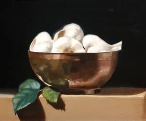 Garlic Still Life by BeckyDeVendra