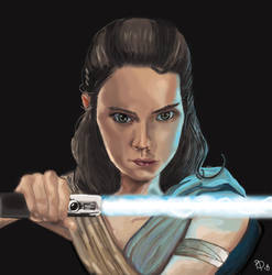 Rey -TLJ by BeckyDeVendra