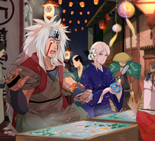 Jiraiya and Kaya by Mrs-w21