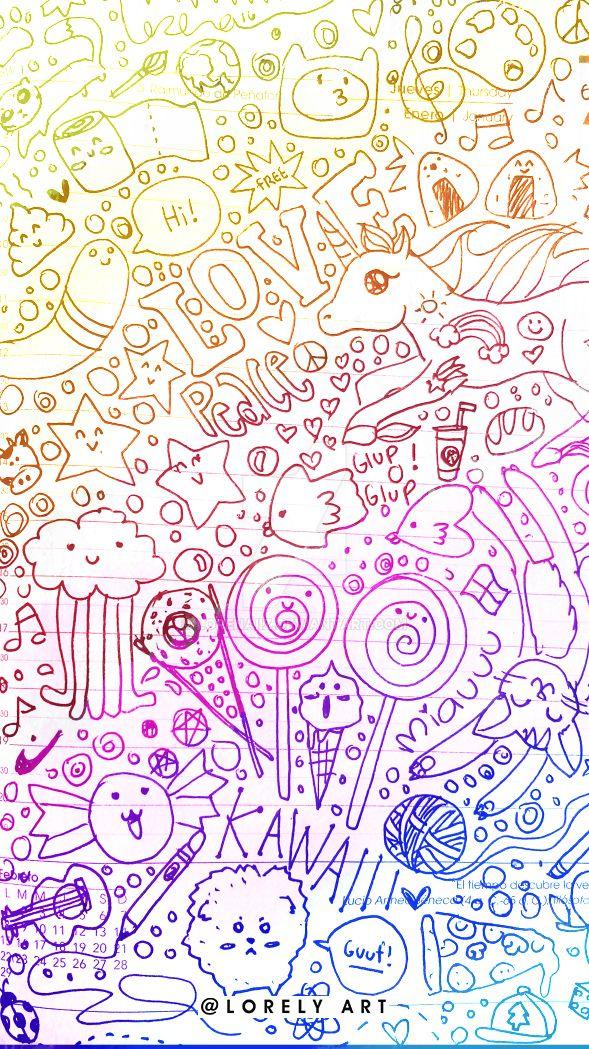 Rainbow doodles 2 by Lorenaiiz