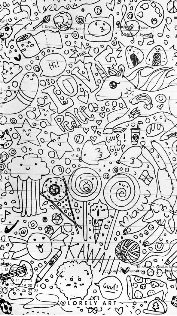 Rainbow doodles 3 by Lorenaiiz