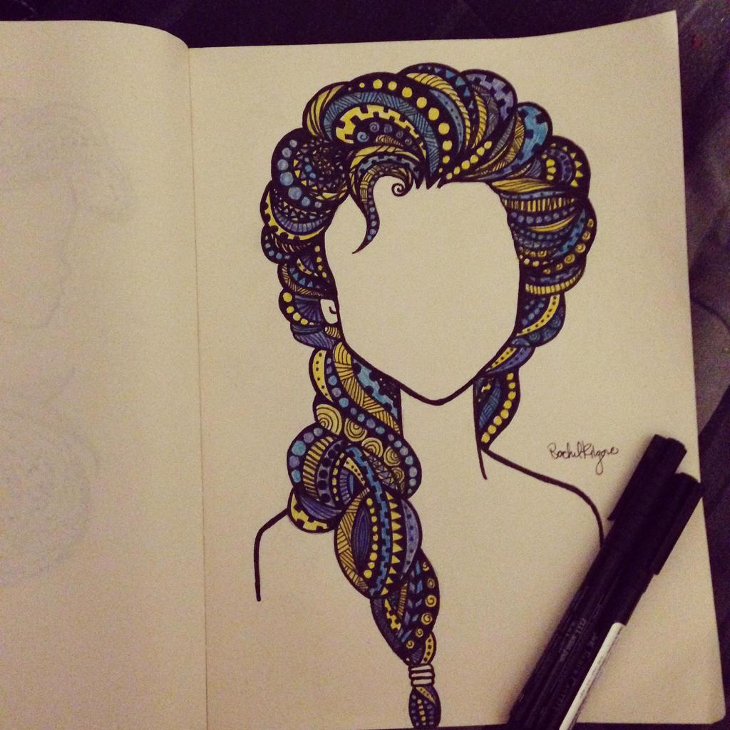Elsa Zentangle By Rachkilgore14 On DeviantArt