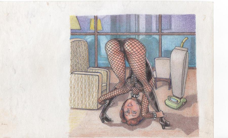 Mrs. Incredible bent over by Robert-L-Santangelo