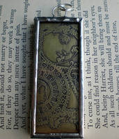 Etched Brass Pendant by twistedblister