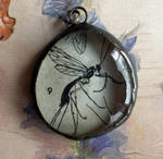 Ichneumon Fly Soldered Pendant by twistedblister