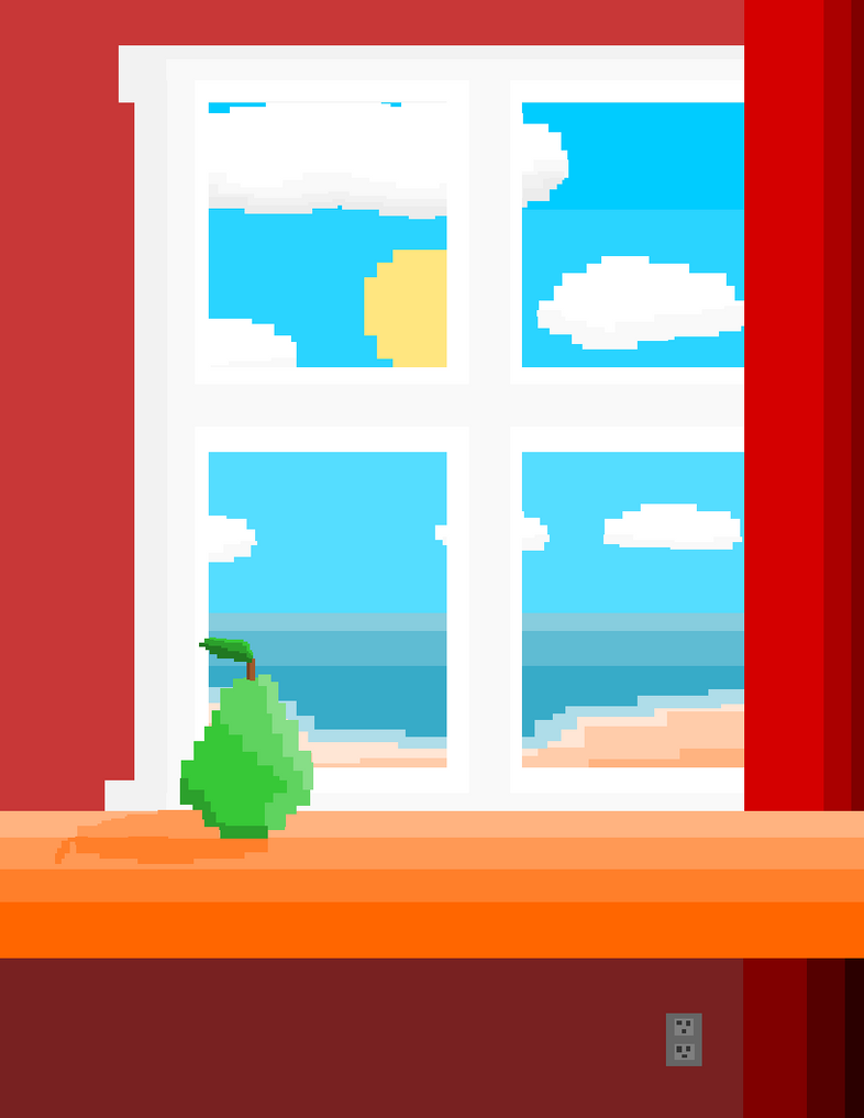 A pear by a window. by moonringblue