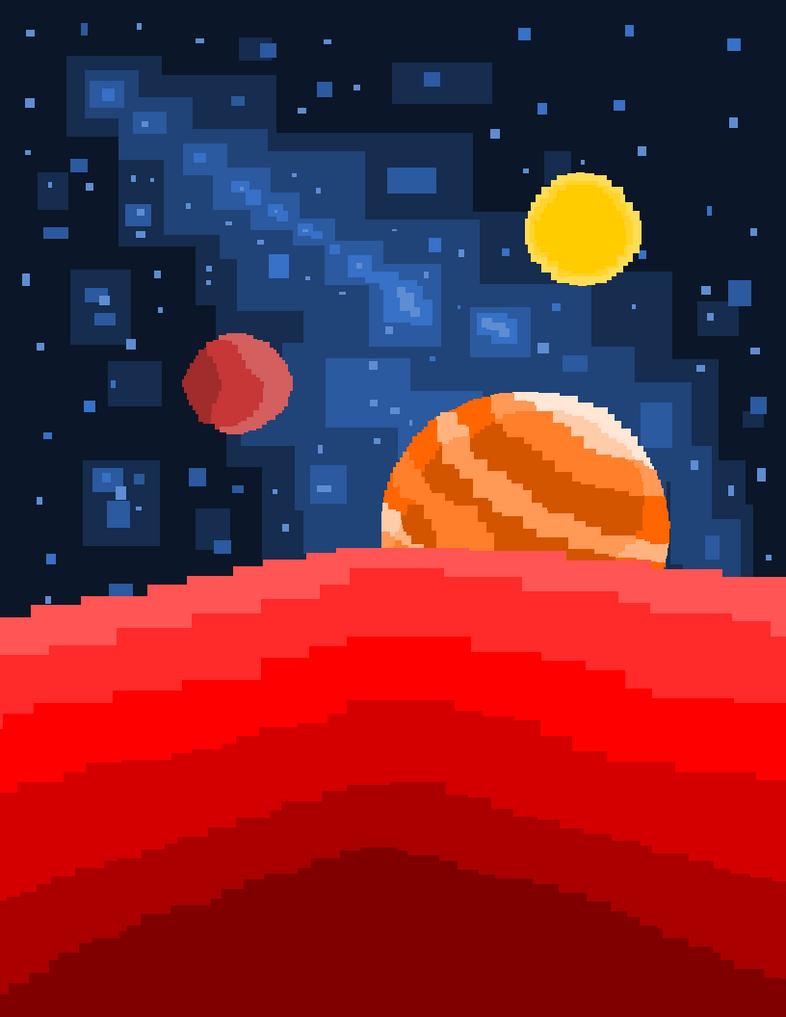 A solar system. by moonringblue