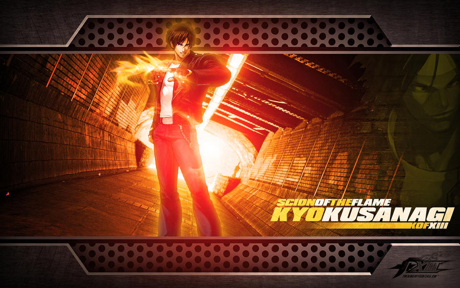 kof wallpaper. Kyo Kusanagi KOF Wallpaper by