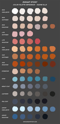 Color Palette Reference - Sarine by ImpChan