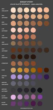 Color Palette Reference - Sara