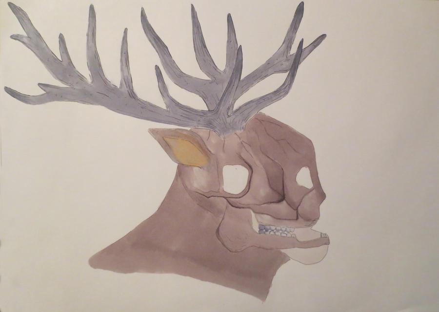 human deer by artbeating
