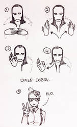 PL sign language with Soren and Kaz: GOOD MORNING by GRKaterina