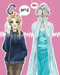 30 Day Challenge [Jelsa] Day 06 - Wearing by jipzuru