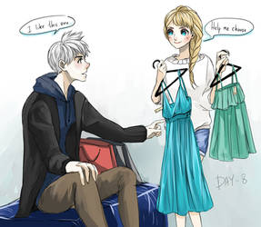 30 Day Challenge [Jelsa] Day 08 - Shopping by jipzuru