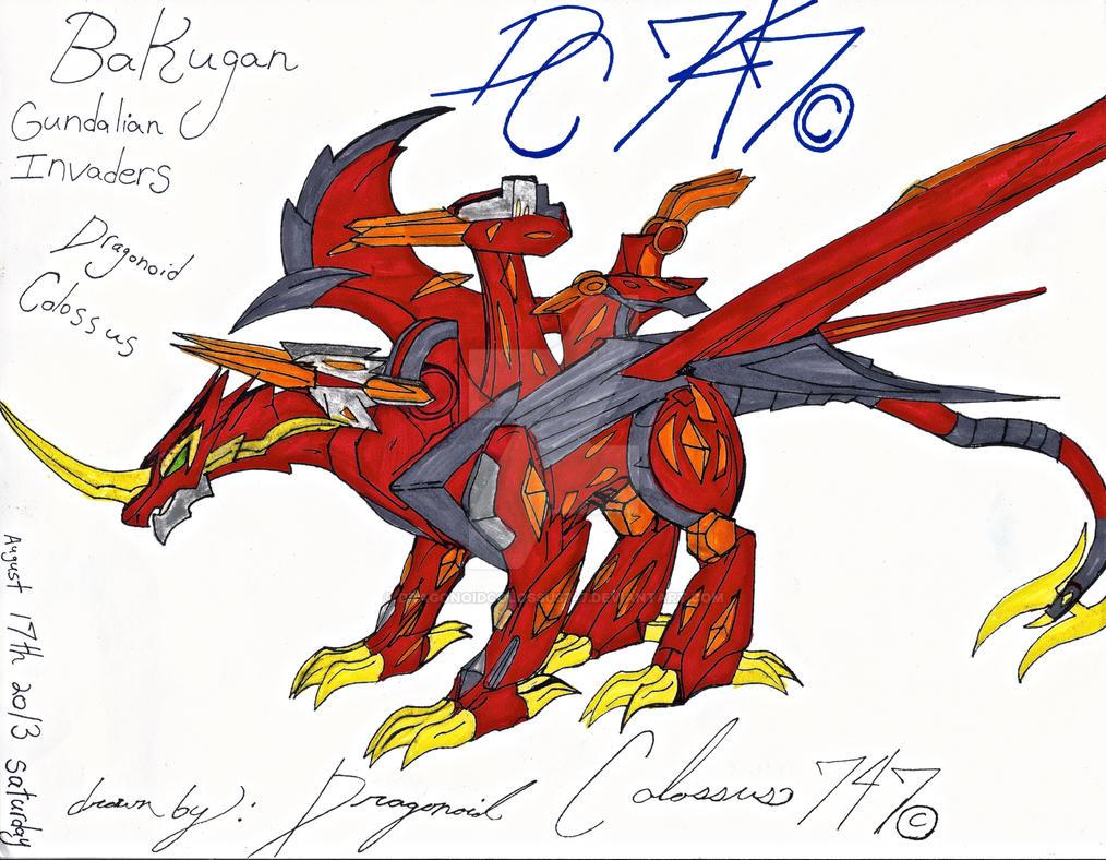 Bakugan Dragonoid Colossus Drawing by DragonoidColossus747