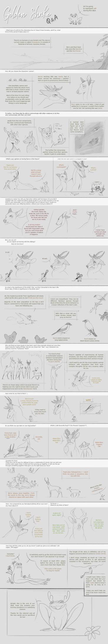 Golden Shrike - Q+A