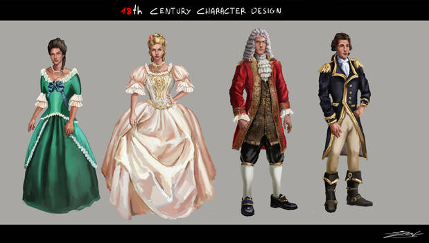 18th Century Character Design
