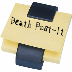 Death Post-it by Galeth