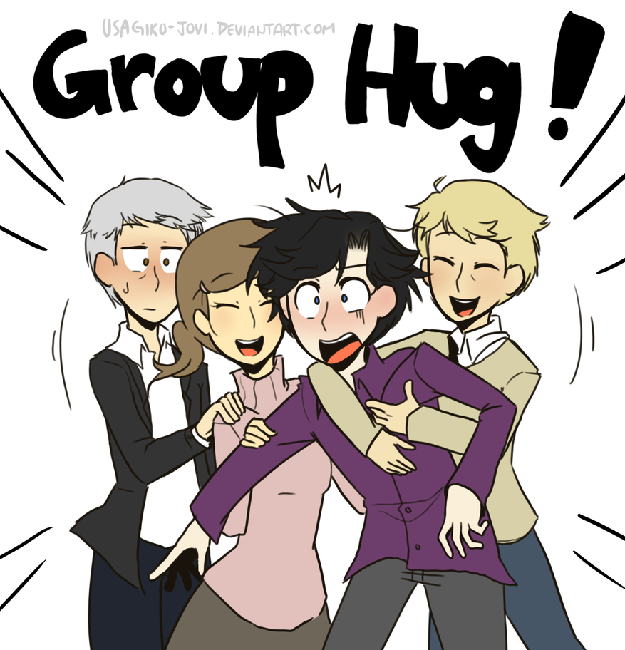 SH: I don't like group hugs! by Usagiko-JOvi