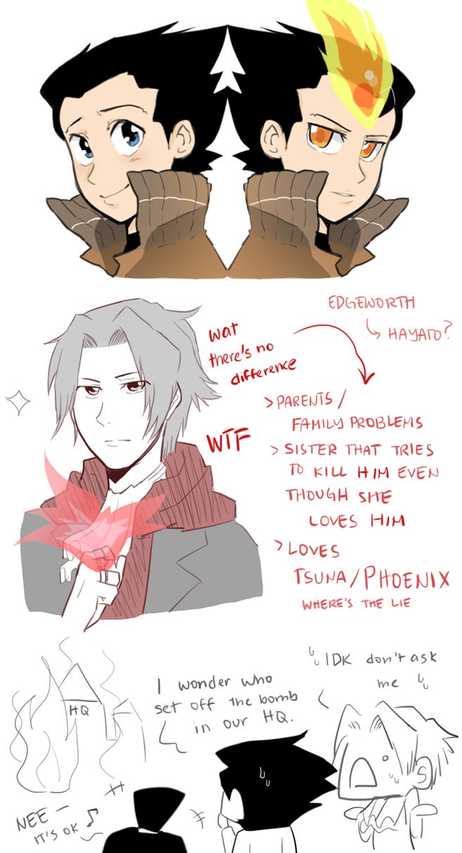 Edgeworth's resolve is probably because of Phoenix by Usagiko-JOvi