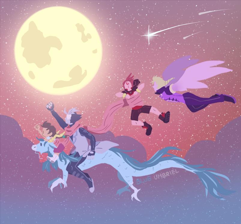 PW/SU: Let's ride into the night by Usagiko-JOvi