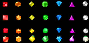 Bejeweled gems through time