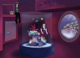 Manda and Jess at the aquarium by deadeyes-star