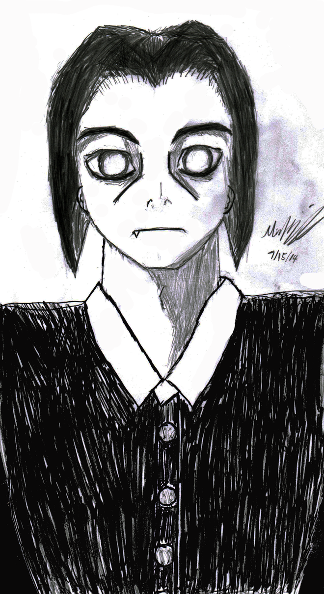 Male Wednesday Addams by LokiBoki