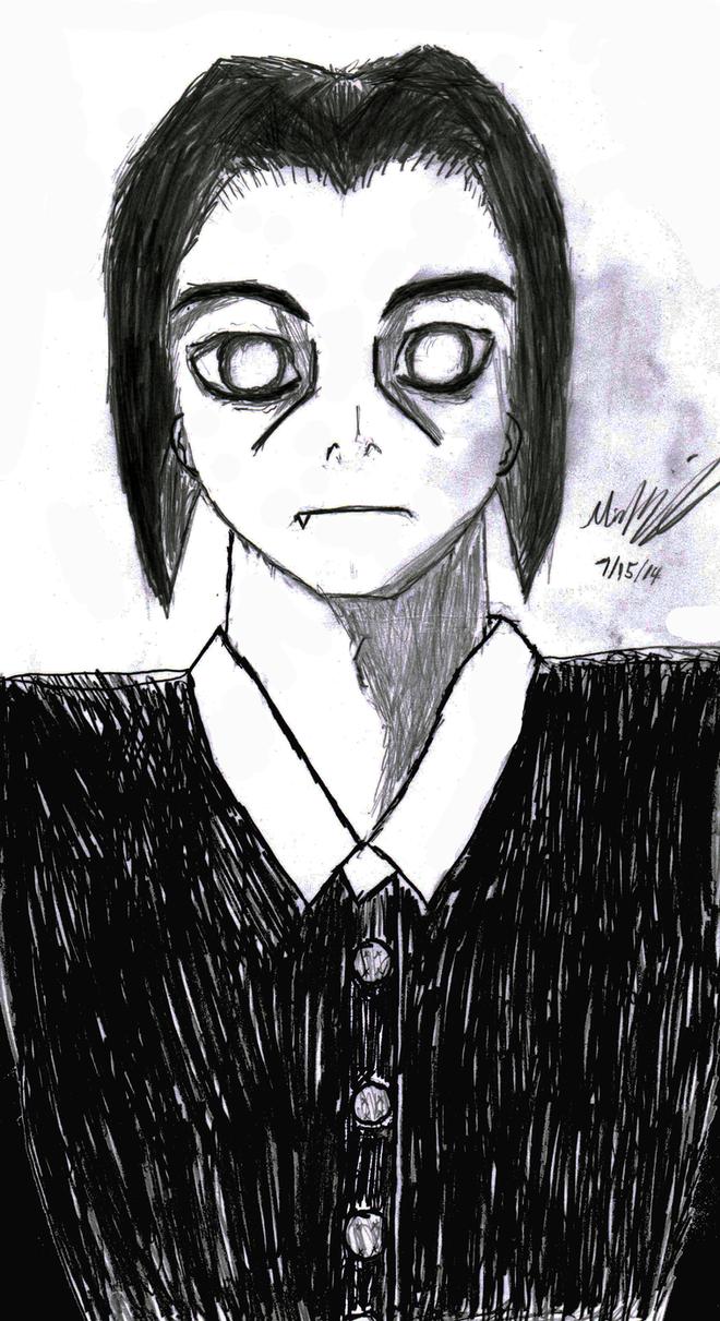 Male Wednesday Addams by LokiBoki