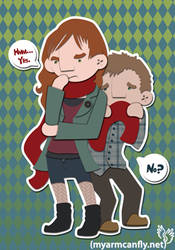 Amy Pond and Rory Williams by myarmcanfly