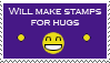 Stamps for Hugs by LostKitten